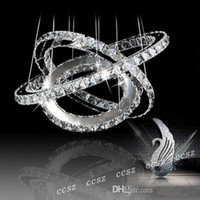 Wholesale Lustre Crystal Chandelier Lighting Modern Pendant lamp Lights for home ring cm
