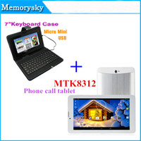 Wholesale 7 inch Dual Core Camera Phone Call Tablet PC MTK8312 G Android M GB GPS bluetooth with flash Phablet with Keyboard Cases A
