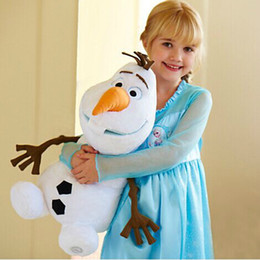 Wholesale Children Toys cm cm cm Doll Olaf Elsa Anna Kristoff Reindeer Sven Cartoon Movie Plush Toy Snowman Princess Dolls Children Gift