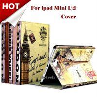 8'' ben bridge - For Mini Retro Smart Leather Case For apple new iPad Mini with Retina England Big Ben London Bridge Paris Eiffel Tower Cover