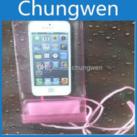 Wholesale iPhone S S Waterproof Pouch waterproof gel case Samsung S3 S4 plastic waterproof pouch cell phone boxes cell phone packages