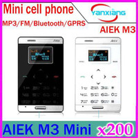 No Smartphone No Brand  DHL 200PCS Hot sale unlock fashion credit card Cartoon Touch button Mobile phone children Chinese brand AIEK M3 cell phone YX-PH-47