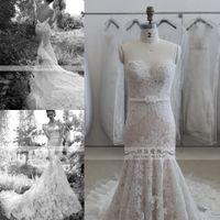 inbal dror - Luxury Classical Designer inbal dror Fall Mermaid Wedding Dresses Lace Sweetheart Long Train Vestidos de Novia Bridal Gowns SK22