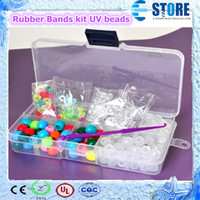 Wholesale New Rubber Bands kit UV beads Rainbow Loom Refills round crystal bead DIY Bracelets UV beads colourful beads s slips M