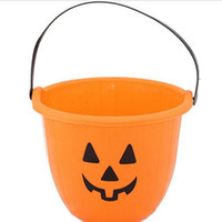 Wholesale Portable Pumpkin Lantern Orange Red Plastic Vat Halloween Toy x19