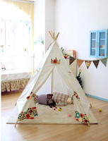 Tents Animes & Cartoons 100% cotton canvas colourful children play tent,kids indian paly house,teepee tent