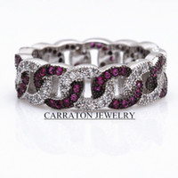 Three Stone Rings Bohemian Women's 2015 New FashionTrends Silver 925 Fancy Ring Oval Chain Rings Double Color Main Stones Top AAA CZ Diamonds Ring Solid Silver ring RSCH7033