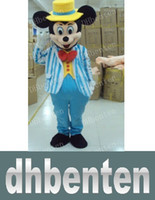 Azul marino BN11 envío gratuito de Mickey Mouse de la historieta de la mascota costomes traje para juegos de muñecas ropa del partido de Halloween Navidad de los niños