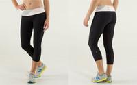 Wholesale Lululemon Run Inspire Crop Lulu Sportwear Cropped Yoga Capri Pant Block It Pcoket Women Yoga Clothing