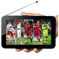 Wholesale 3G TV Tablet PC MTK8312 dual core with Analog TV watch world Cup Bluetooth GPS wifi Android Dual Camera inch