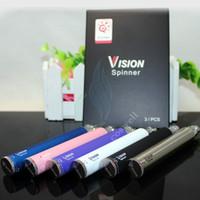 1100mAh Adjustable ego-c twist vision spinner 1 battery ego-c twist electronic cigarette 650mah 900mah 1100mah 1300mah large capacity for vivi nova V2 CE4 CE5 Mt3 X9