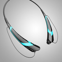 Cheap HBS-760 Bluetooth Wireless Headset Earphone Sport Neckband Earsets for mobile phones 50pcs lot free shipping