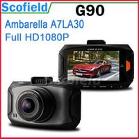 Wholesale G90 Ambarella A7 car camera car dvr Mega Pixels P quot LCD Wide angle Lens Dash cam HDR G Sensor Russian Language