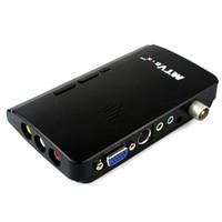 Receivers DVB-S  Brand New Mini LCD TV Box Digital Computer VGA TV Programs Tuner Receiver Dongle Monitor Black D5184A