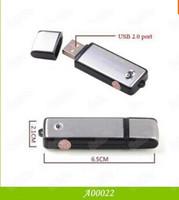 4GB MP3 WAV USB Disk & Mini USB Voice Recorder 2 in 1 4GB Blk &Blue 200PCS LOT DHL Free Shipping