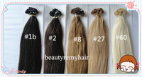Peruvian Hair #1b#2#4#6#8#27#60  Straight Super Sale Flat-tip Hair Extensions 100% Virgin Peruvian Remy Human Hair Extensions 18''--28'' free shipping by DHL