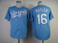 Wholesale Royals Butler blue Baseball Jerseys New Style Royal teams Baseball Apparel Newest Jerseys Fashion Sports Apparel in stock