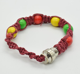 Wholesale bracelet pipe smoking pipe click n vape sneak a toke rasta dry herb ecigar tobacco