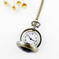 Wholesale Luxury Mysterious Vine Black Rhinestone Openable Pocket0 Watch Jewelry