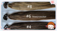 Indian Hair #1b#2#4#6#8#27#60  Straight 100% Virgin IndianRemy Human Hair Extensions Flat-tip Hair Extensions18''--28'' 1g s 100g pc DHL Free Shipping