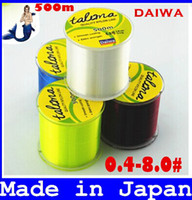 Wholesale Carp Fishing Free Shipping - FREE SHIPPING Transparent  Yellow  Red  Blue 500m Monofilament Fishing Line 4.0-40.5LB 100% Nylon fishing line for carp fishing top sale