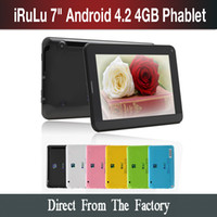 Ship from USA! iRuLu 7 Inch Android 4. 2 Allwinner A23 Phable...