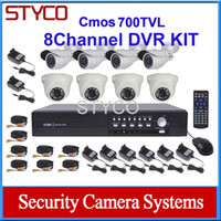 Wholesale CMOS PC3089N TVL channel CCTV Camera KIT D1 DVR and day and night Camera support mobile phone surveillance