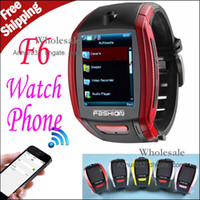 Wholesale High Sales F6 SIMCard Quadband Unlocked Watch Phone Bluetooth Camera Touch Screen Watch Phone MP3 MP4 Video Playback E Book Reader