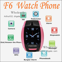Wholesale High Definition Ultra Thin Design Sport Cell Phone Watch F6 With quot Screen MP3 MP4 Video Playback E Book Reader