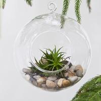 Wholesale 8cm cm cm cm Hanging Glass Balls Air Planter Terrarium Garden For Housewarming Gift Wedding or Home Decor candlestick