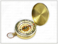 Wholesale DHL Classic Pocket Watch Style Bronzing Antique Camping Compass with Luminous effect