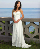A-Line maternity wedding dresses - Hot A Line Strapless Pleated White Ivory Chiffon Champagne Lace Wedding Dresses Empire Waist Bridal Gown Maternity Bridal Wedding Gown