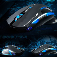Wholesale E lue D Mazer II GHz Laser Wireless Game Gaming Mouse DPI Blue LED C1809