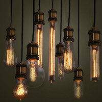 Wholesale 2014 NEW Edison Antique tungsten filament vintage antique E27 Light Bulb Reproduction Droplight