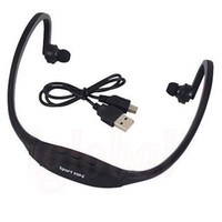 Wholesale Hottest Wireless Headphone Running Gym Sport MP3 Music Player TF Micro SD Card Slot Earphone TF Card Handfree Headset