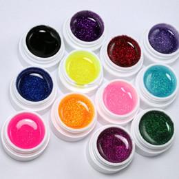 Wholesale Colors Glitter Acrylic UV Gel Builder False Nails Tips Natural Nails Nail Art Polish Kit Set Women Lady Cosmetic