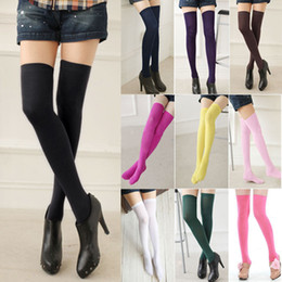 Wholesale Colorful Fashion Sexy Womens Over Knee Thigh High Stockings Socks fx209