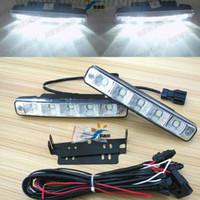 12V Newsun NS-DA002 Free shipping 2014 Best sell 10W LED daytime running light with Alumiuam housing E4 DRL waterproof LED fog car driving drl lamp