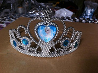 Wholesale 2014 new Frozen Diamond Crown Snow Princess Elsa Anna cosplay Party present Decorate Childs Girl Hair Band Tiara Headband