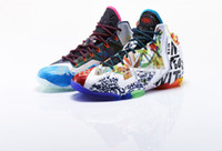 Wholesale 2014 New Fashion Sports Shoes Lebron XI What the Lebron Basketball Shoes Sneakers Elite Playoffs Athletic Shoes