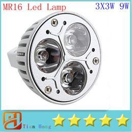 MR16 3X3W 9W Dimmable Spotlight Led Lamp AC DC 12V Energy Saving Lighting Downlight free shipping