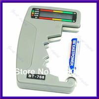 1217381 9.5x 6x 1cm(approx)  Free Shipping Digital Battery Tester Checker LED Monitor C D 1.5V 9V
