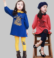 Wholesale free shpping dhl Qiu dong outfit children who garments two piece girls Long sleeve suit
