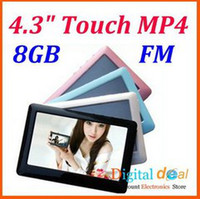 Wholesale 2014 hottest seller Wholsale GB T13 inch HD definition touch screen Mp4 Mp5 game player TV out Video FM radio