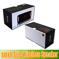 Wholesale Mini Portable box NFC speaker wireless with bluetooth speakers with retail box for iphone mp3 player seven eleven