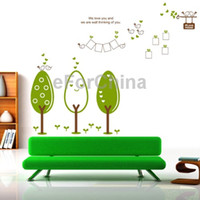 Cheap XL DIY Cartoon Modern Self Adhesive PVC Removable Wall Stickers House Interior Decoration Pictures Tree Bird Decals Home Decor