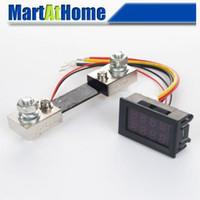 Wholesale V DC A quot Dual LED Digital Voltmeter Ammeter A mV DC Shunt Resistor BV262 CF