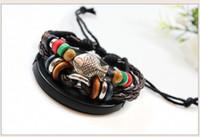 Beaded, Strands Other Unisex Vintage fashion jewelry bracelet wooden bead Knitting poisonivy Chinese Ethnic Fashion Bracelets12pcs lot Free Shipping