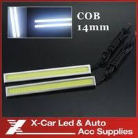 12V 2014 X-car 2PCs set High Power COB Bar Panel LED DRL 14cm Off road Driving Daytime Running Lights lamp Aluminum White 12V free shipping