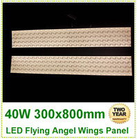 No 85-265V 3014 2pcs 40w 300x800mm led flying angel wings led flashlight pendant led light crystal chandeliers square led downlight ceiling panel light